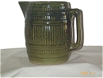 Green Yellowware Pitcher