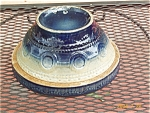 "Yellowware With Cobalt ""wedding Ring"" Bowl"