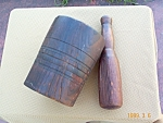 Mortar & Pestle Wood 4 Lbs+ Primitive