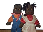 Black Americana Boy And Girl Rag Dolls
