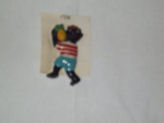 Black Americana Folk Art Jewelry Pin