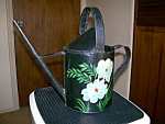 Toleware Hand Painted Watering Can Folk Art