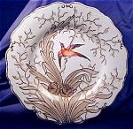 Chamberlains Worcester Hp Bird Plate