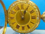 18k Roskell With Magnificent 3 Color Gold Dial Pocket Watch