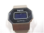 Bulova Lcd Quartz Wrist Watch