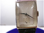 14k Hamilton Classic Retangle Wrist Watch