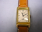 18k Small Rectangular Longines Wrist Watch