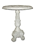 American Victorian Carved Marble Table C. 187