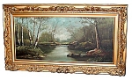 19th C. American Oil On Canvas Landscape