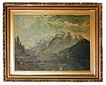 Early 20th C. Framed Oil On Canvas Landscape Painting