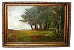 Large 19th C. Oil On Canvas Landscape Painting