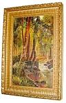 19th C. Framed Oil On Canvas Landscape Scene