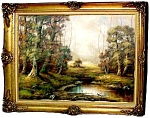 Wonderful Early 20th C. Oil On Canvas Landscape
