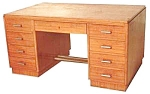 10.1437 Art Deco Mahogany Desk