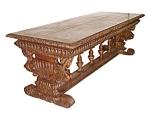 Italian Victorian Figural Library Table In Walnut