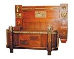 Italian Curio Cabinet W/brnz Mounts & Cherubs