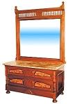 Nice Marble Top Eastlake Dresser C. 1890