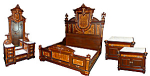 Walnut Victorian Bedset By Thomas Brooks.