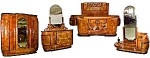 Fabulous 6 Pc. Burled Walnut Art Deco Bedset