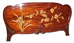 Galle Art Nouveau Inlaid Headboard/footboard