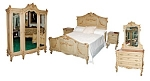 9 Pc. French Painted Bedroom Set C. 1890