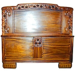 Beautiful Frnch 4 Pc Mahogany Art Deco Bedset