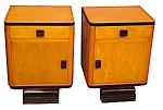 Beautiful Pr Of Art Deco Nightstands C. 1920