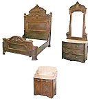 Walnut 3 Pc Bedroom Set Attr: Thomas Brooks