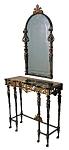 Oscar Bach Style Pier Table & Mirror