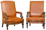 Pair Of Eqyptian Revival Armchairs.
