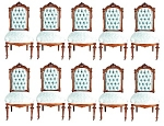 19th C. Victorian 12 Pc Dining Chair Set
