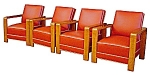 Set Of Four Matching Art Deco Armchairs