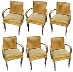 Fantastic Set Of Six Matching Arm Chairs