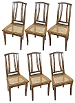Fabulous Set Of Six Art Nouveau Dining Chairs