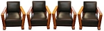 Set Of Four Matching Art Deco Chairs