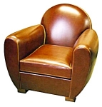 Pr Art Deco Dome Top Armchairs