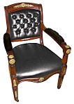 Rare 19th C. Bronze Mounted Empire Armchair