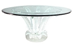 Beautiful Lalique Crystal Cactus Table.