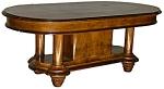 11.4562 Burled Walnut Rectangular Table With
