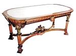 12.4208 Marble Top Renaissance Revival Table