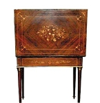 French Inlaid Table/backgammon Table