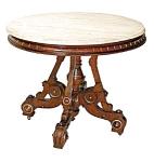 14.3101a Walnut Oval Table W/fancy Base