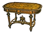 19th C. Renaissance Revival Inlaid Coffee Table