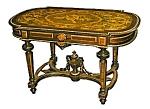 19th C. Renaissance Revival Inlaid Coffee Table