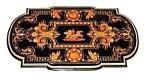 Renaissance Revival Inlaid Rosewood Table: Herter Bros