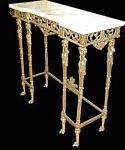 14.02856 Bronze Empire Table W/marble Top