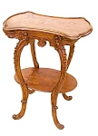 Inlaid Art Nouveau 2 Tier Table By Majorelle.