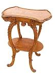Inlaid Art Nouveau 2 Tier Table By Majorelle.