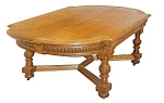 Beautiful 6' Oak Library Table.