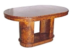 Art Deco Table Executed In Burl Walnut.